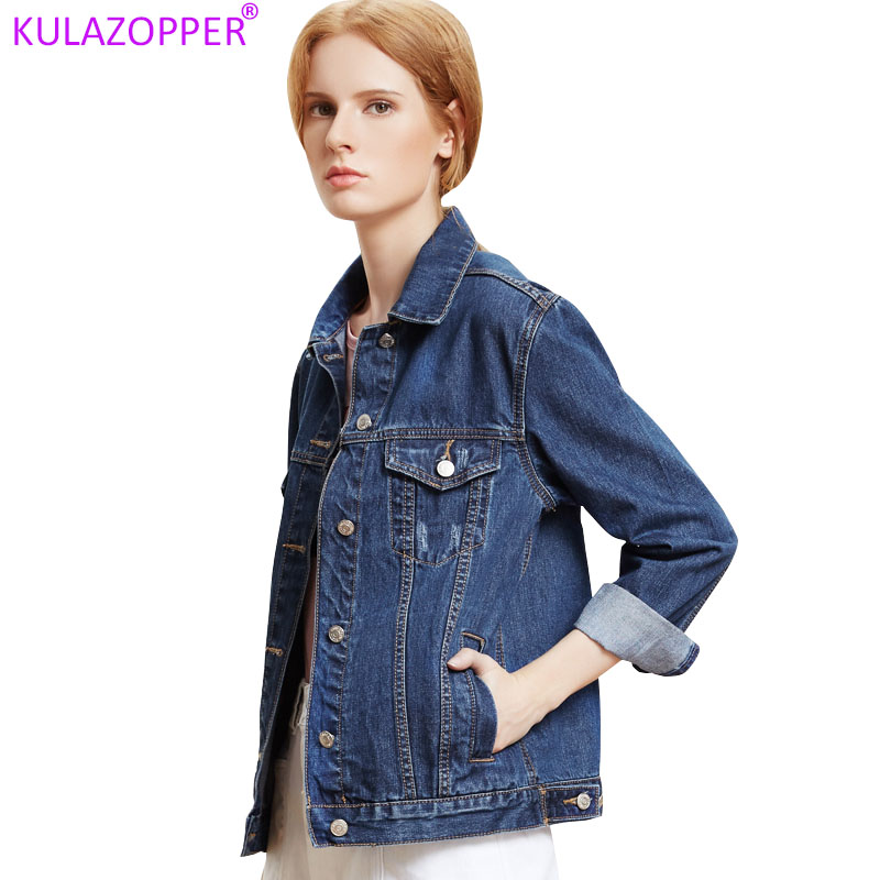 KULAZOPPER Big size Denim Jacket Female Loose Short Coat 2019 Spring Autumn New Women s BF
