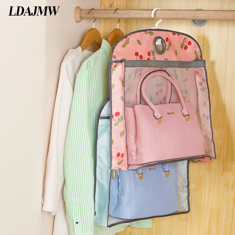 Ldajmw Handbag Hanging Organizers Wardrobe Tote Dustproof Storage Bags Dust Cover Accessories Supplies In From Home Garden On Aliexpress