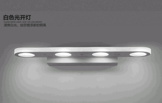 Modern brief lengthen led mirror light bathroom mirror glass cosmetic lamp energy saving led mirror cabinet lamp new energy saving creative small spotlight led remote control for cabinet light mirror lamp search light bed table light