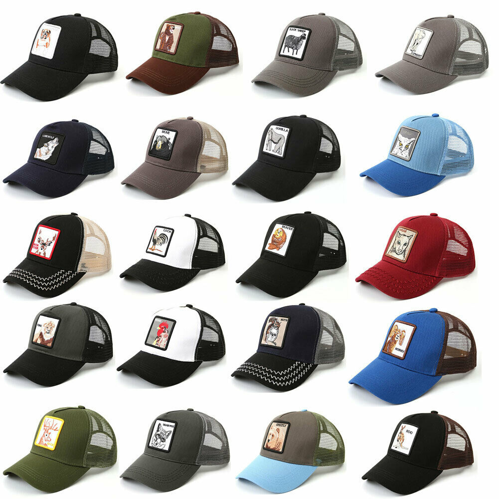 26 Animals Pattern Fashion Women's Mesh Baseball Hat Snapback Cap Adjustable Unisex Stylish One Size
