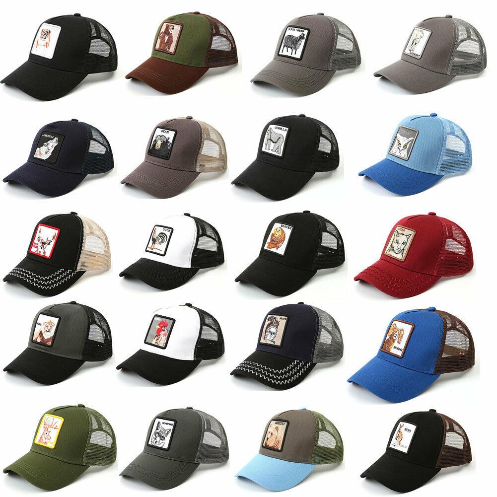 26 Animals Pattern Fashion Women's Mesh Baseball Hat Snapback Cap Adjustable Unisex Stylish One Size