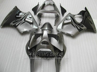 Motorcycle Fairings For Kawasaki ZX6R 2000 2001 2002 (Grey black ) Fairing Kit 00 02 Customize sticker free S84