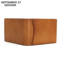 Credit Card Holder Genuine Leather Simple Bifold Slim Wallet Luxury Brand ID Card Case Bus Bank