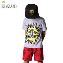 Cool Boys Need it Quality Children Cotton tshirt Boy's Cartoon Clothing For Summer Cute Lion Style 2016 Hot Sale
