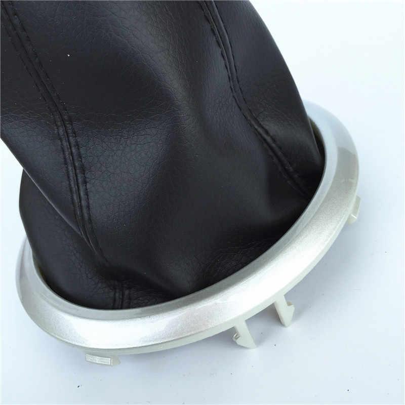 Para Suzuki Swift MK2 2005 2006 2007 2008 2009 2010 Botão do Deslocamento de Engrenagem Gaiter Boot Tampa Protetora Contra Poeira Colar Moldura Vermelha /Ponto preto
