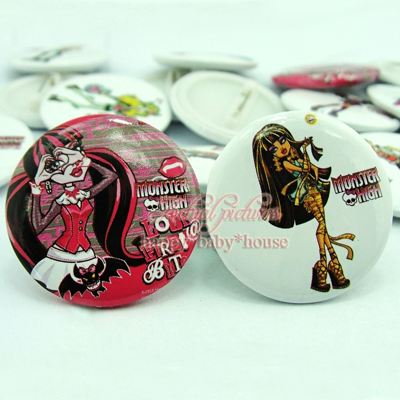 Luggage & Bags Hot 18pcs Princess Cartoon Logo 30mm Diameter Novelty Buttons Pins Badges Round Brooch Badges Kids Party Gifts Bags Accessories High Quality