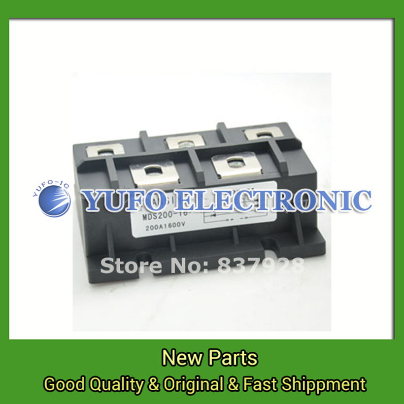 Free Shipping 1PCS  MDS200-16 MDS200-12 three-phase bridge   module   YF0617 relay factory direct brand new mds200a1600v mds200 16 three phase bridge rectifier modules