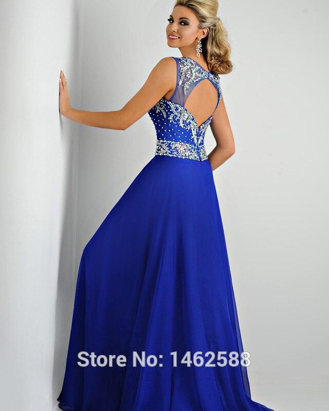 ab1ea7c127 6c9i-13frot-mujer-vestido-de-fiesta-cola-barriba-espalda-descubierta-otono- sin-mangas-gasa vestidos azules largos espalda descubierta