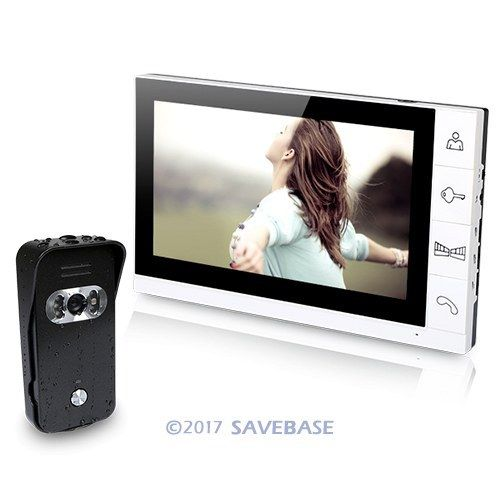 HOMSECUR New Wired Video Door Phone Doorbell Intercom System 1XCamera And 1X9Inch Monitor