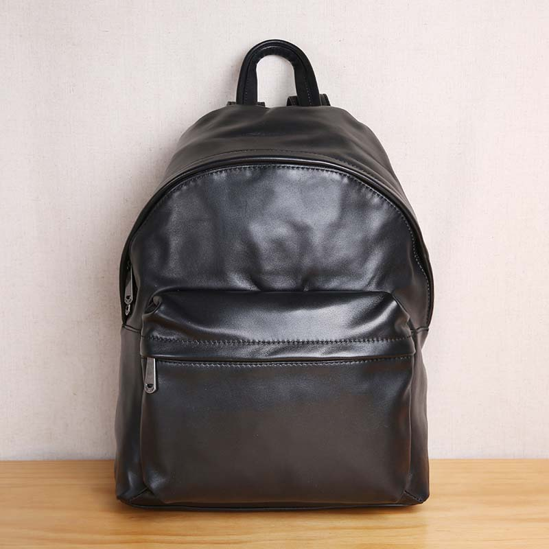 AETOO Fashion trend men's leather soft shoulder bag Soft Leather Backpack Travel Bag aetoo retro leatherbackpack bag male backpack fashion trend new leather travel bag