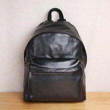 AETOO Fashion trend mens leather soft shoulder bag Soft Leather Backpack Travel Bag