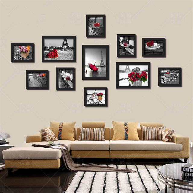 Us 489 40 Offblack White Red Color Paris Landscape Wall Painting No Frame Nordic Canvas Art Pictures Decorative Mural Posters For Living Room In