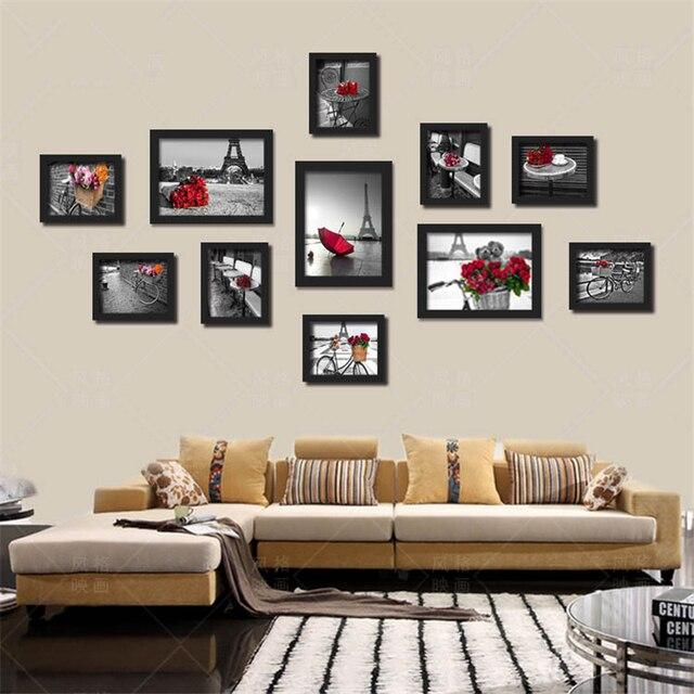 Schwarz Weiß Rot Farbe Paris Landschaft Wand Malerei Kein Rahmen ...