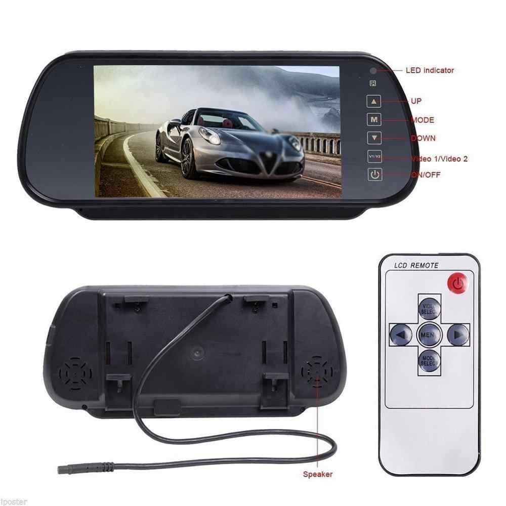 7 ''цифровой TFT lcd цветной HD Автомобильный зеркальный монитор заднего вида с 2AV входным пультом дистанционного управления сенсорной кнопкой Авто 16:9 зеркальный монитор
