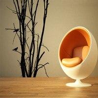트리 조류 숲 나무 벽 룸 장식 예술 비닐 이동식 벽 스티커 거실 벽화 데칼 침실 주방 홈 장식
