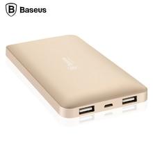 Baseus 10000 mAh Banque de Puissance Double USB Portable Externe Batterie Mobile Téléphone Chargeur Pour iPhone Xiaomi Samsung Powerbank