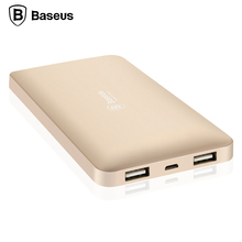 Baseus 10000mAh Power Bank Dual USB Portable External Battery Mobile Phone Charger For iPhone Xiaomi Samsung Powerbank