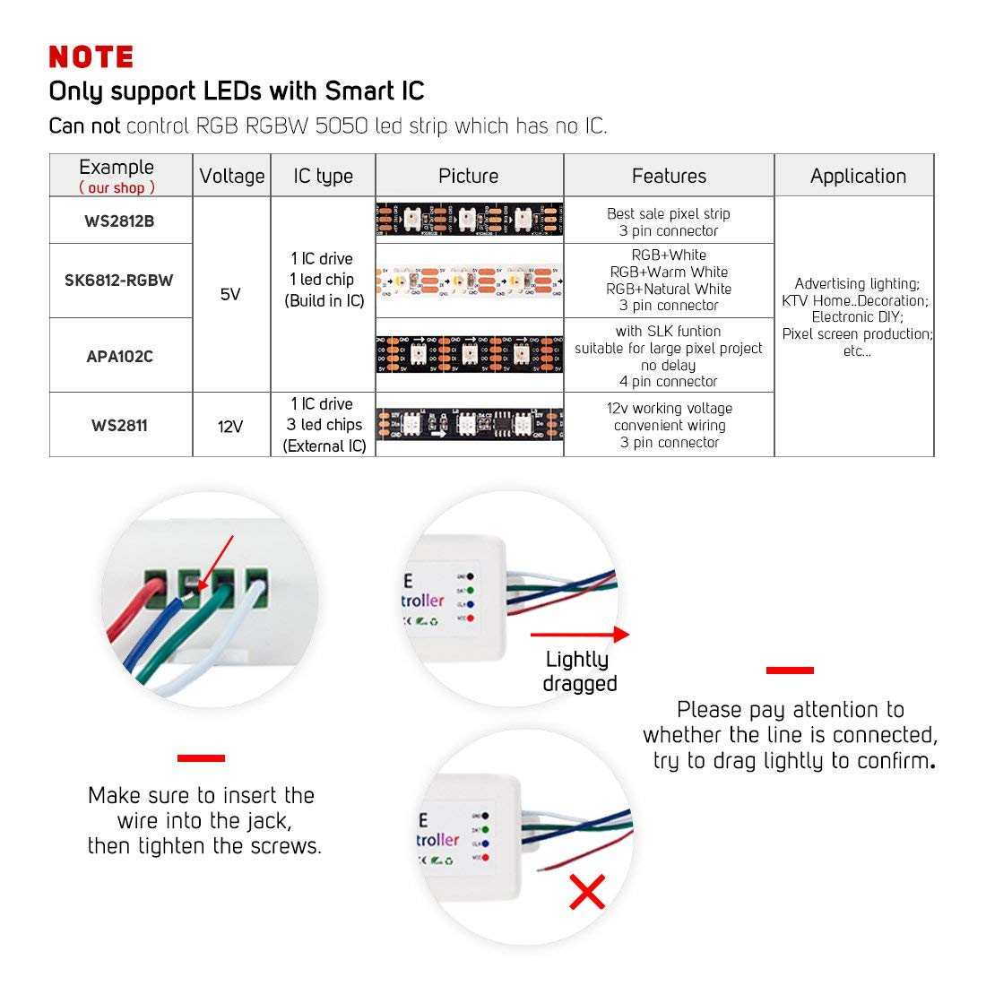 Brand New SP105E Wireless Bluetooth Controller APP WS2811 WS2812B WS2801 SK6812 APA102 Individually Addressable Programmable LED in RGB Controlers from Lights Lighting