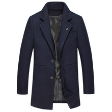 2016 зима мужская мода досуг костюмы мужская толстый шерстяной плащ пальто мужчины пальто куртки мужские шерстяные ветровка