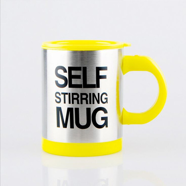 Stainless Steel Self-Stirring Mug