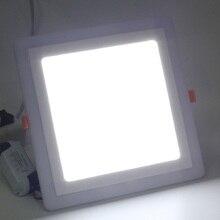 light 6+3W 12+4W LED Panel light Recessed Kitchen Bathroom Lamp AC100v-240 Surface Mounted Aluminum Square Ceiling Light Bedroom