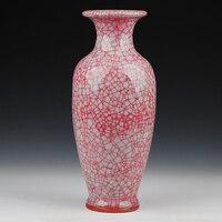 Jingdezhen ceramics Jun porcelain glaze cracks borneol antique vase The sitting room adornment