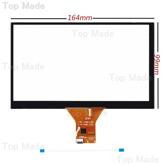 """7"""" Capacitive Touch Panel 164x99mm for 1024x600 GPS Android Handwriting Screen"""
