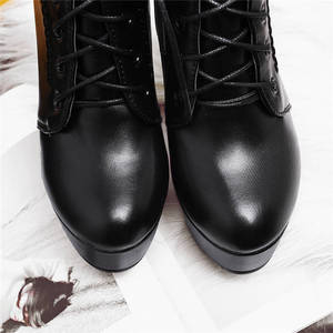 Image 5 - MORAZORA wholesale big size 34 48 ankle boots for women zipper fashion high heels boots autumn winter platform boots female