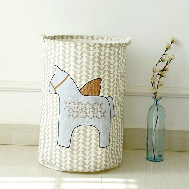 my horse dirty clothes barrel folding toy creative clothes basket