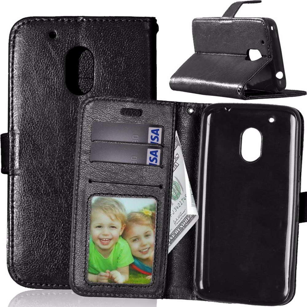 hot sale online 22022 ce49d US $3.99 15% OFF|Original Phone Case for Motorola Moto G4 Play Luxury  Wallet Leather Cover for Motorola Moto G 4 Play Flip Case Stand Back  Covers-in ...