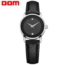 DOM women watches luxury brand waterproof style quartz leather gold nurse watch GS-1075