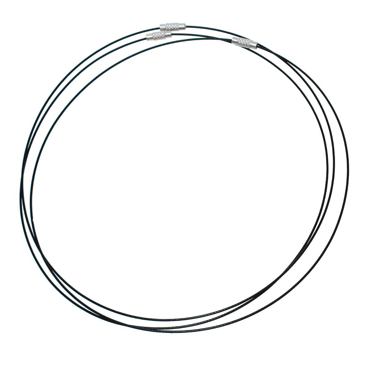 8seasons Steel Wire Choker Necklaces Silver Tone Color