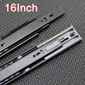 "Top Quality 1Pair=2PCS 16"" Portable 3 Fold Telescopic Steel Ball Bearing Drawer Runners Slides Rail K191/4"