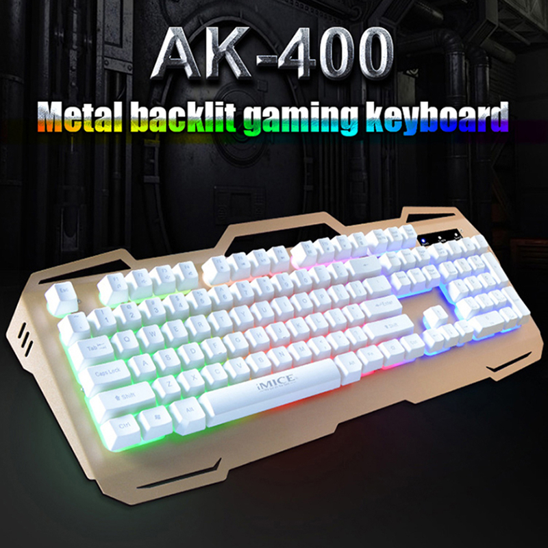 iMice Gaming Keyboard Wired USB Backlit 104 Keys Gamer Keyboards Metal Panel With For Laptop PC Computer Game