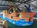 2016 новый Завод прямые Надувные слайд, Надувные пиратский корабль, животное рай KY-134