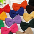 New 2017 Man Fashion Accessories Solid Color Plain Classic Pre-tied Bow Tie Casual Bowtie for Men Mens Ties for Party Wedding