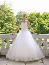 free shipping bandage dress 2014 A-Line White Bridal brides maid dresses customized vestidos formales long wedding