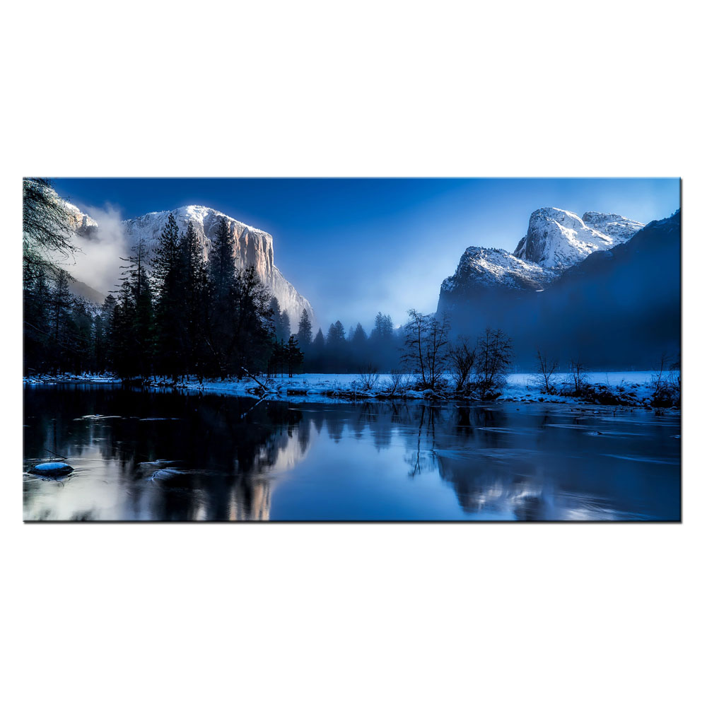 3 Piece Modern Home Art Decor Landscape Painting Pictures Green Nature Waterfall Llake Arts Paints Printing