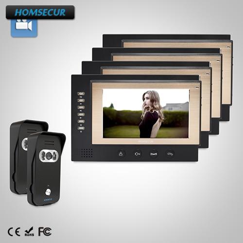 HOMSECUR 7 Video Door Entry Security Intercom+Dual-way Intercom for House/Flat: TC021-B  ...