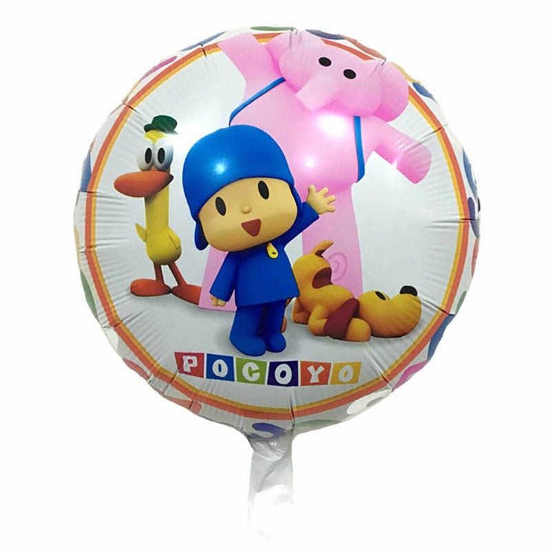 3 pcs Balões Crianças Brinquedos Infláveis Dos Desenhos Animados Pocoyo Menino Balões Fontes Do Partido Do Chuveiro Do Bebê Festa de Aniversário Decoração Folha De Balão