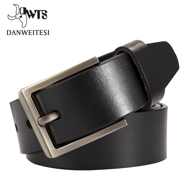 [DWTS]2016 men belt cow genuine leather luxury strap male belts for men new fashion classice vintage pin buckle