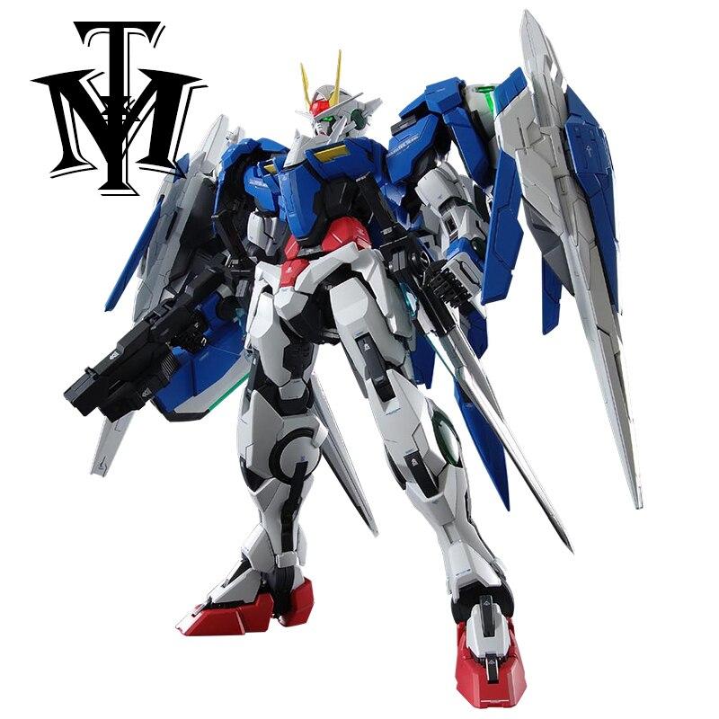 ФОТО gaogao pg gn-0000 1/60 00 raiser gundam mobile suit kids action figure educational toys 30cm anime assembly robot model juguetes