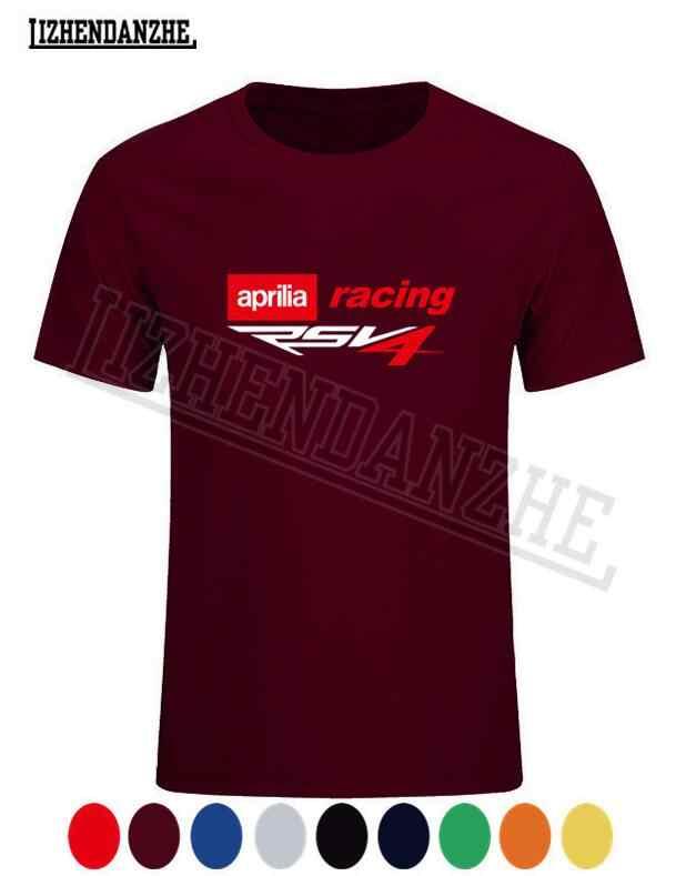 Nouveau Aprilia RSV4 Motorsport Racinger Logo hommes T-shirt coton haute qualité vêtements d'été T-shirt, t-shirts auto voiture de mode