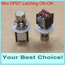 5 יח\חבילה מיני DPDT נעילה ON/על גיטרה אפקט לדחוף כפתור Stomp דוושת רגל מתג