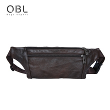 Casual Business Cow Genuine Leather Men Waist Pack Bum Bag Pouch Fashion Travel Pochete font b