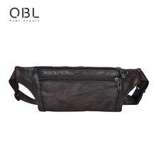 Casual de Negocios de Cuero de Vaca Genuino de Los Hombres Paquete de La Cintura Bum Bag Bolsa de Viaje de La Moda Bolso Pochete Cintura Homme Borsa MBA20