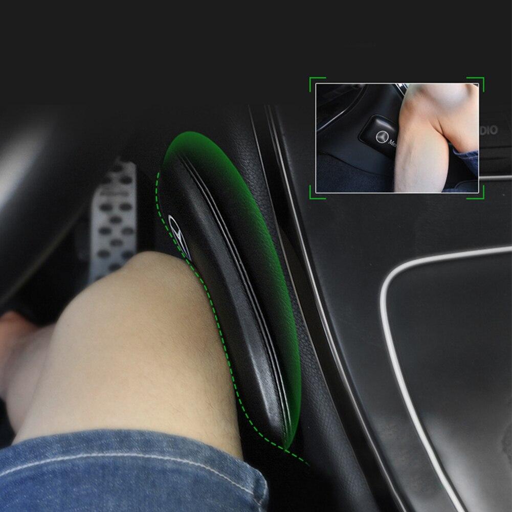 Кожаные наколенники для салона автомобиля удобные эластичные подушки пены памяти универсальные аксессуары для бедра 18X8.2cm title=