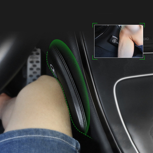 Leather Knee Pad for Car Interior Pillow Comfortable Elastic Cushion Memory Foam Universal Thigh Support Accessories 18X8.2cm(China)