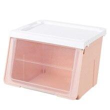 फ्लिप कवर प्रकार स्टोरेज बॉक्स स्टेकेबल सुंदरी ऑर्गनाइज़र होम फर्निशिंग प्लास्टिक दराज ऑर्गनाइज़र स्टेशनरी बॉक्स ओब्लिक प्लास्टिक