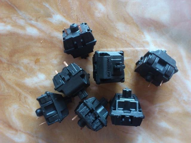 30PCS/Lot Authentic GATERON black shaft mechanical keyboard dedicated switch 3 pin